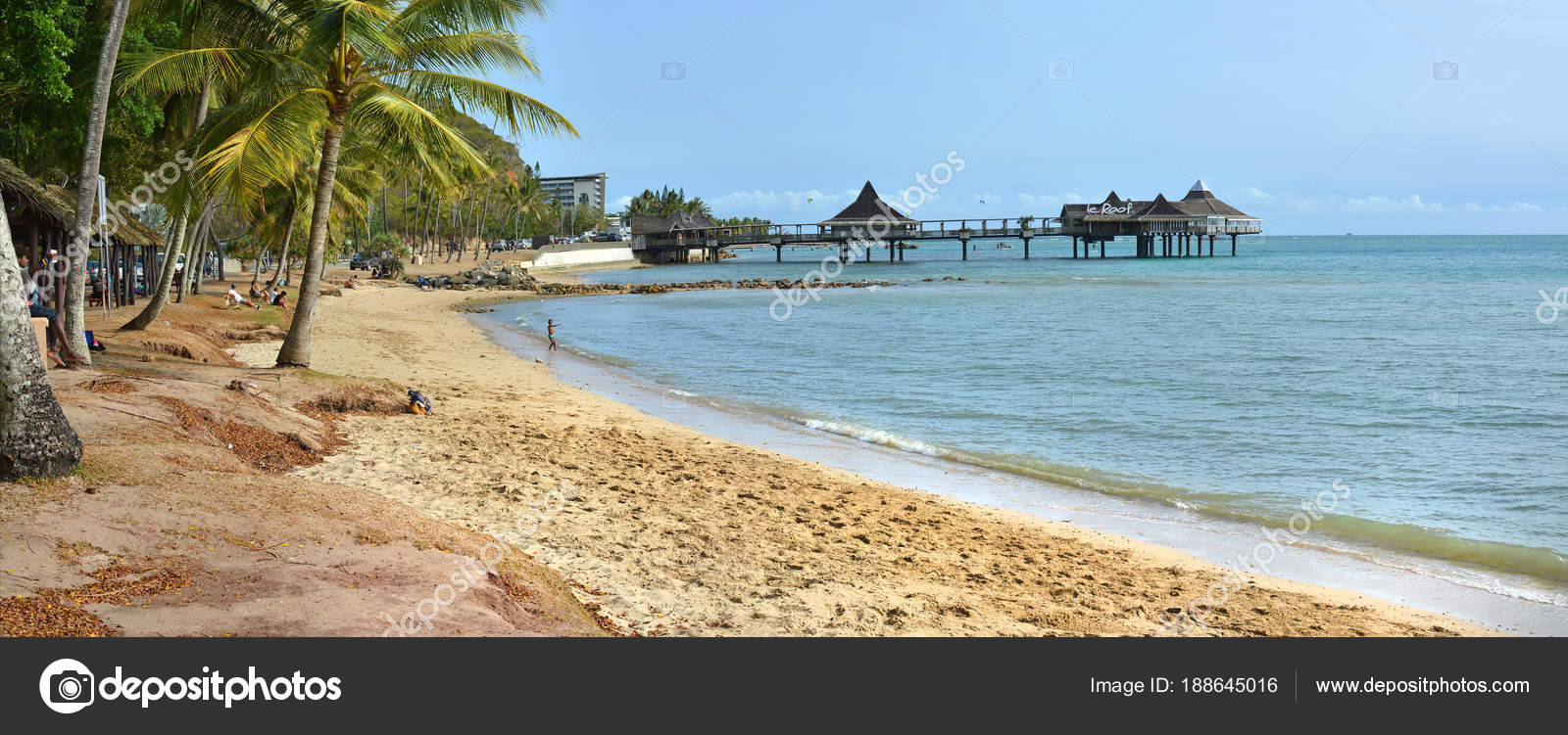 noumea beach panorama new