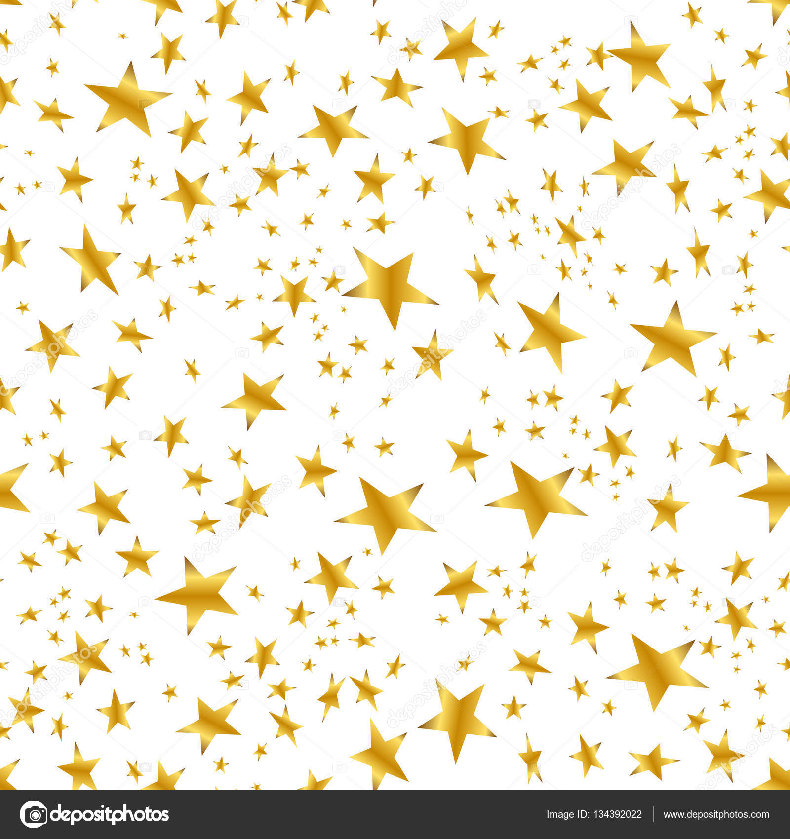 Falling Stars Live Wallpaper Gold Star Confetti Pattern White Background Stock Vector
