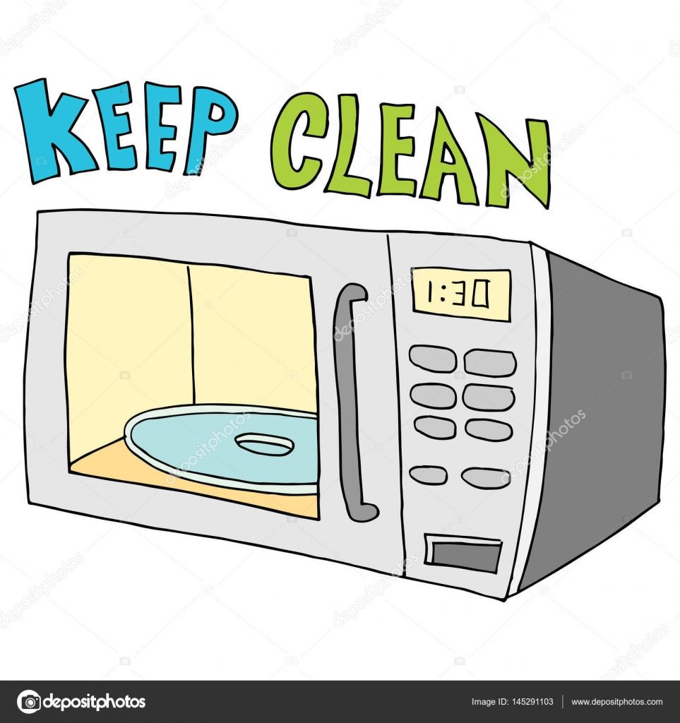keep microwave clean vector image by c cteconsulting vector stock 145291103
