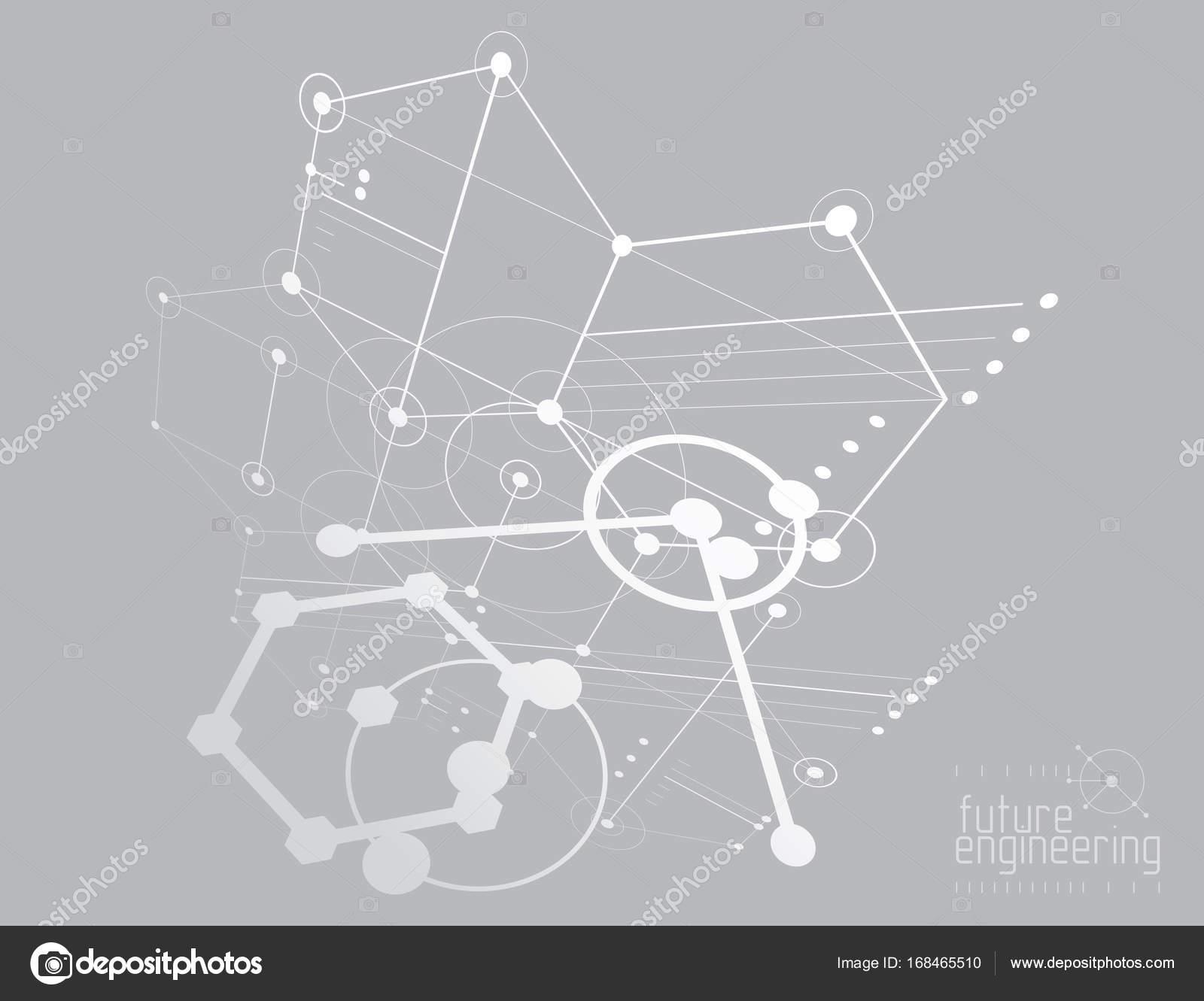 Mechanical engineering background — Stock Vector