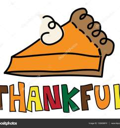 thankful pumpkin pie stock vector [ 1600 x 1358 Pixel ]