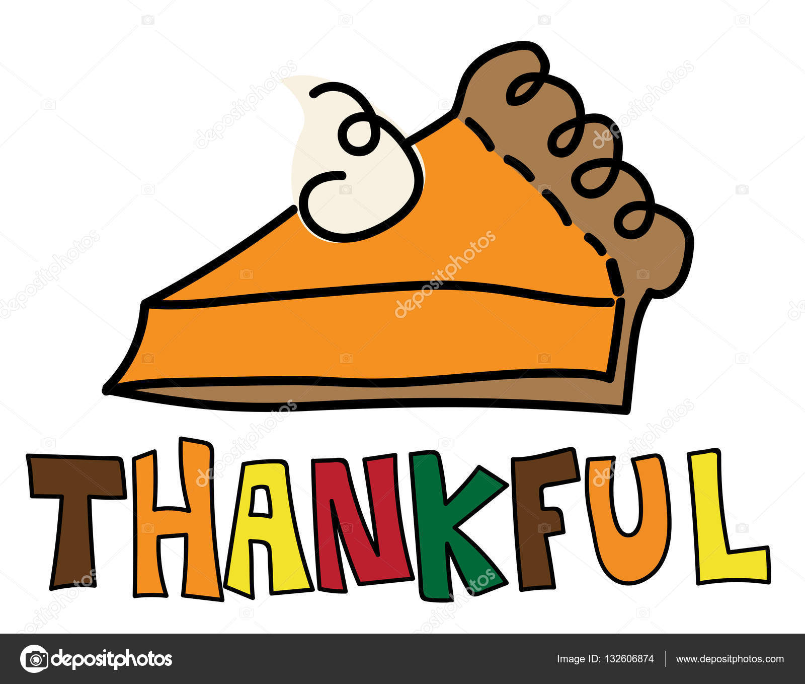 hight resolution of thankful pumpkin pie stock vector