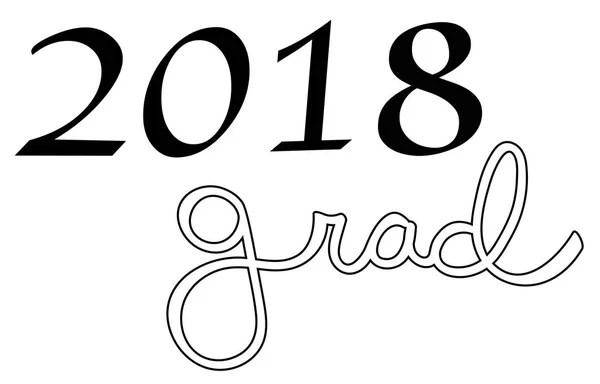 Congrats Grad School Lettering — Stock Vector © keeweegirl