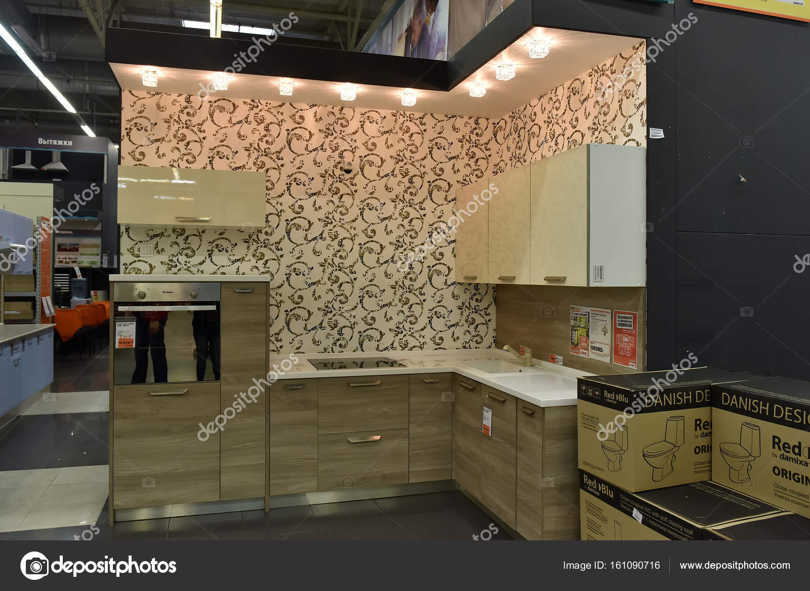 kitchen furniture store pantrys russia petersburg 2017 stock editorial photo