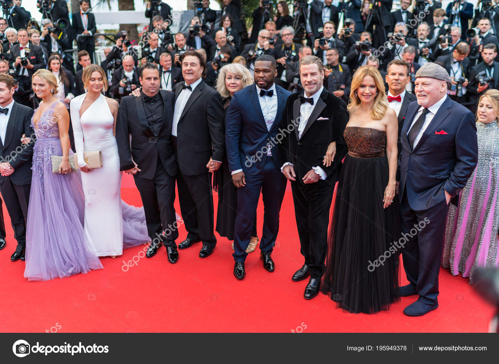 Roter Teppich Cannes Cannes Frankreich Mai 2018 Kevin Connolly Mit Gotti Gegossen John