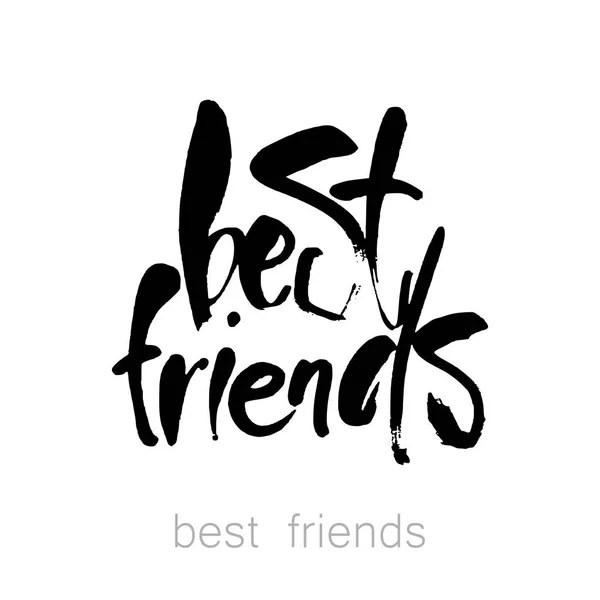 Najlepsi przyjaciele napis — Grafika wektorowa
