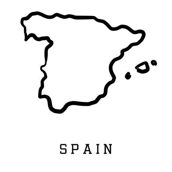 vektorgrafiken spanien karte umriss