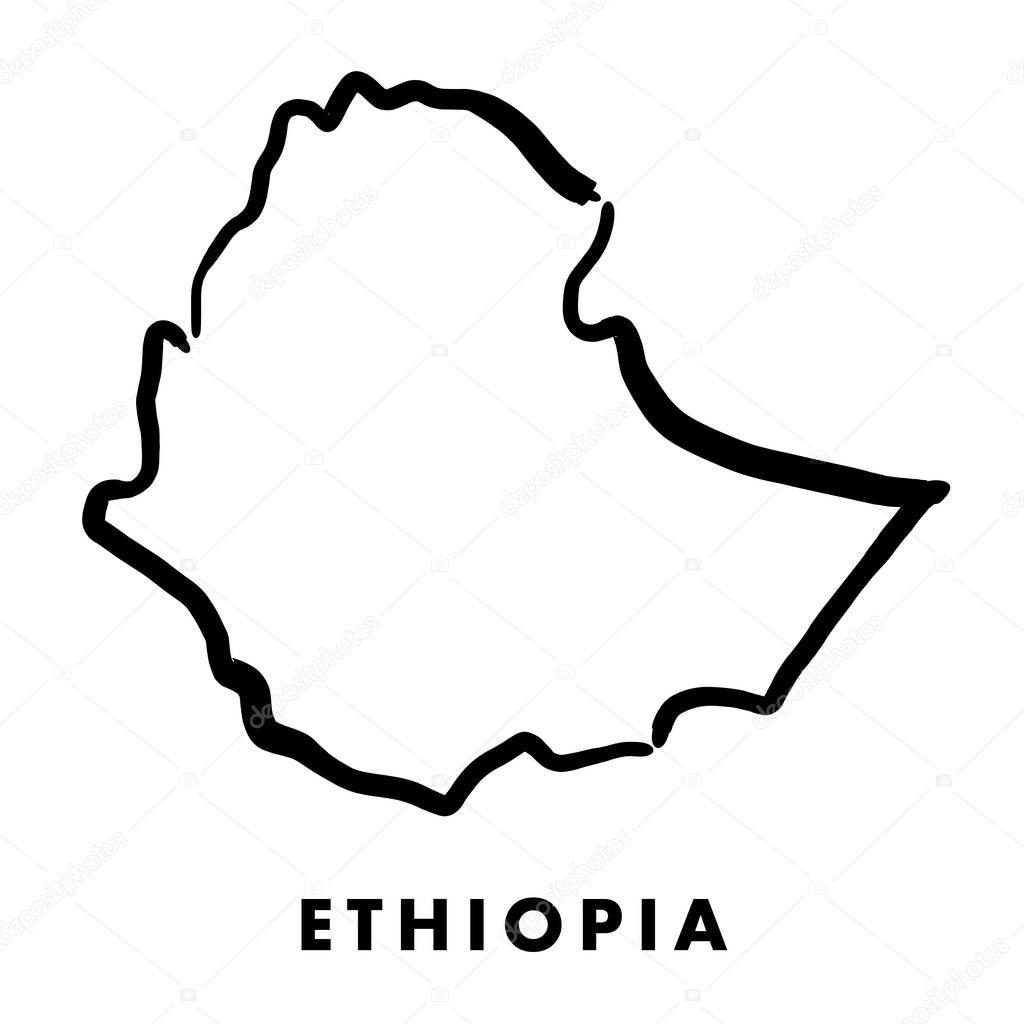 Äthiopien Karte Umriss — Stockvektor © tupungato #172485894