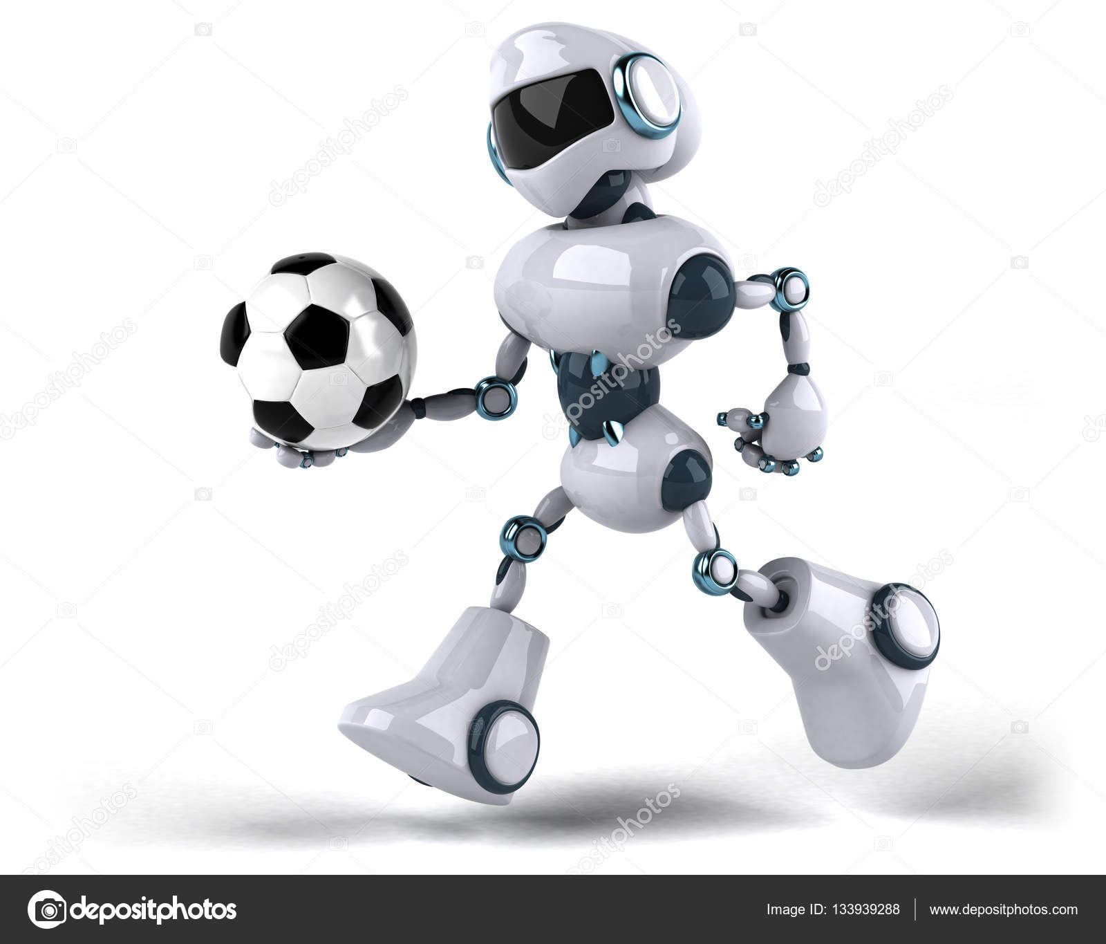 Robot holding ball  Stock Photo  julos 133939288