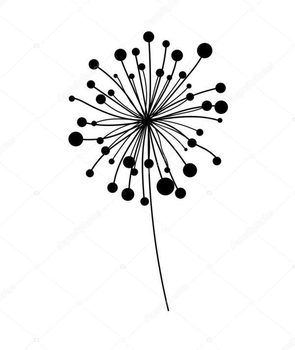 dandelion vector element stock