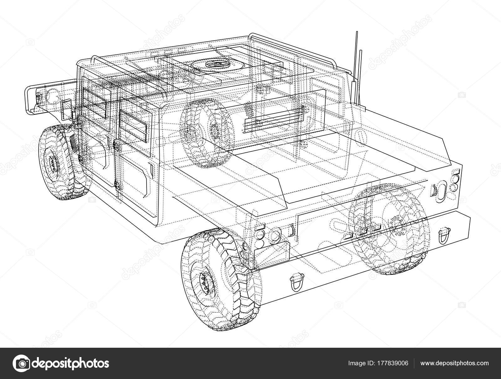 hight resolution of combat car vector rendering of 3d stock illustration