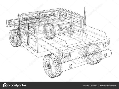 small resolution of combat car vector rendering of 3d stock illustration