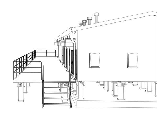 drawing, sketch of a house — Stock Photo © sergeymansurov