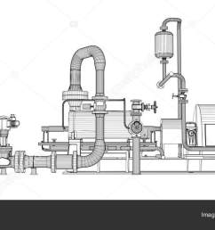 wire frame industrial pump stock photo [ 1600 x 764 Pixel ]
