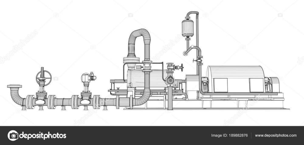 medium resolution of wire frame industrial pump stock photo