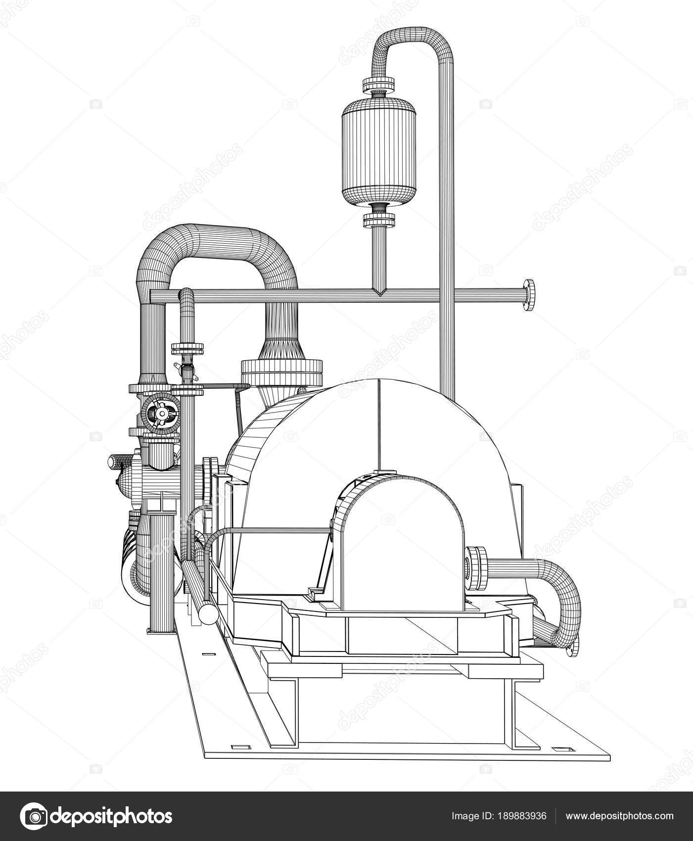 hight resolution of wire frame industrial pump stock photo