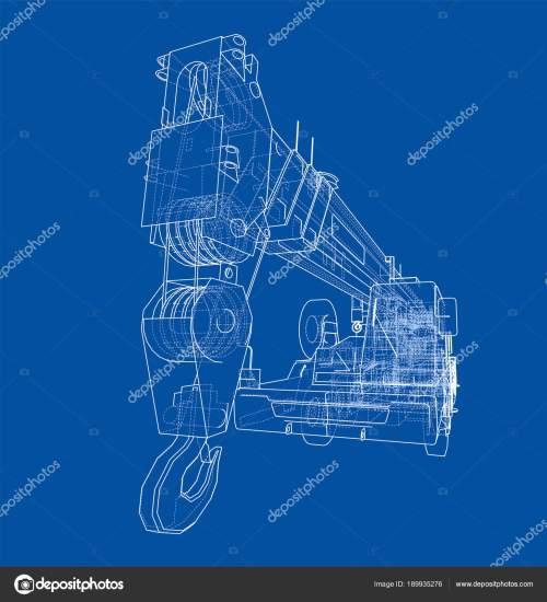 small resolution of mobile crane blueprint stock photo
