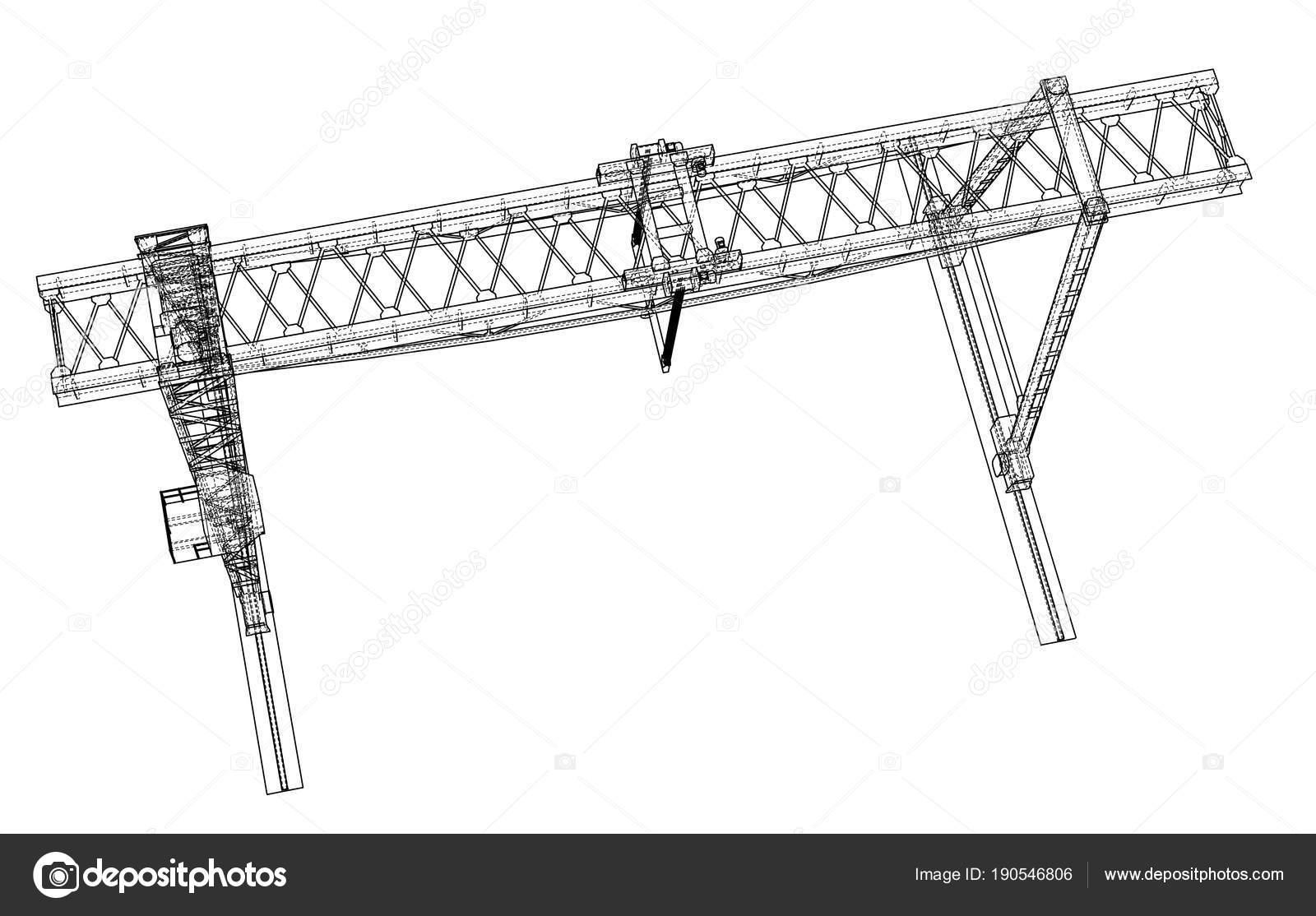 Gantry crane blueprint — Stock Photo © cherezoff #190546806