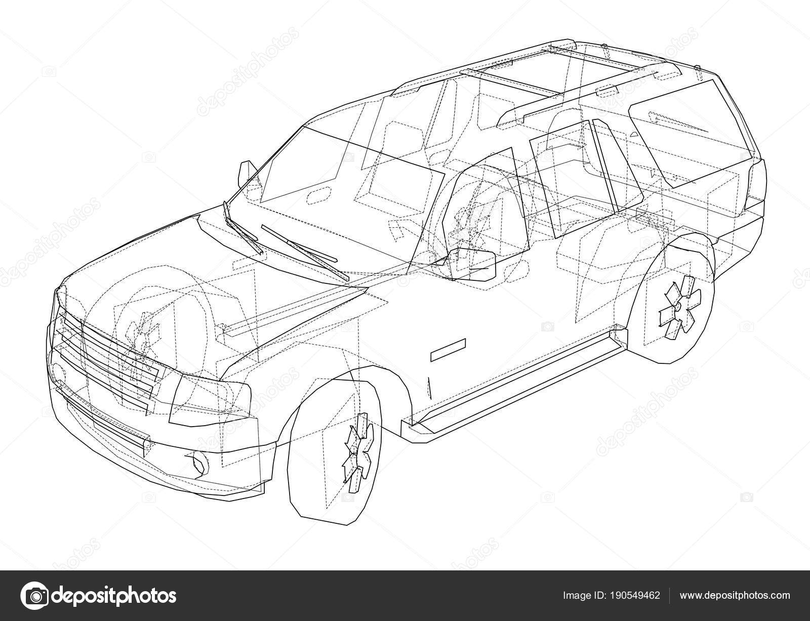 Beautiful Suv Outline Drawing