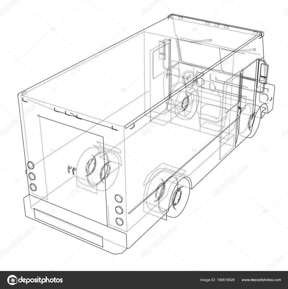 medium resolution of concept delivery car 3d illustration stock image