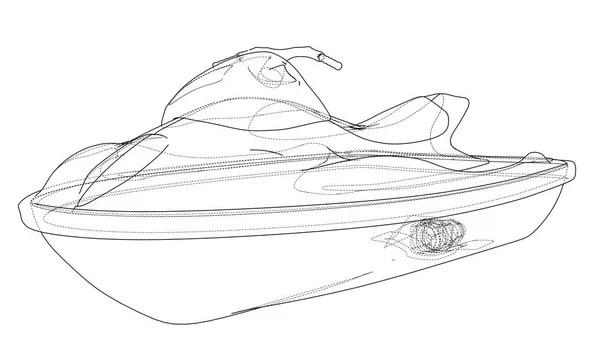 Boat drawing illustration — Stock Vector © Kopirin #64036445
