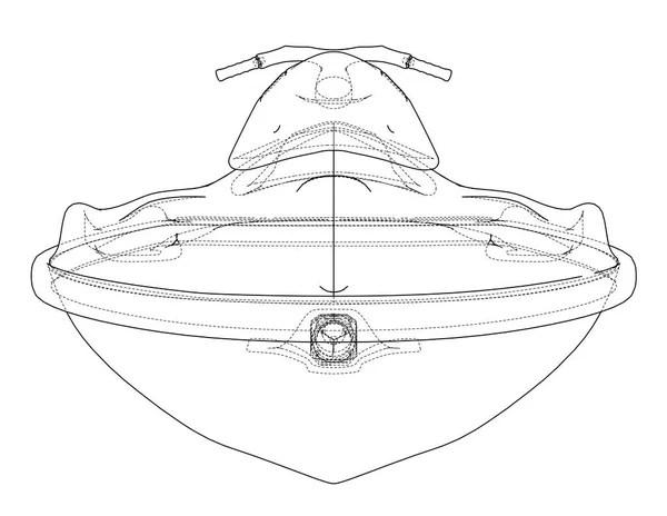 Jet ski sketch — Stock Vector © lhfgraphics #13892931