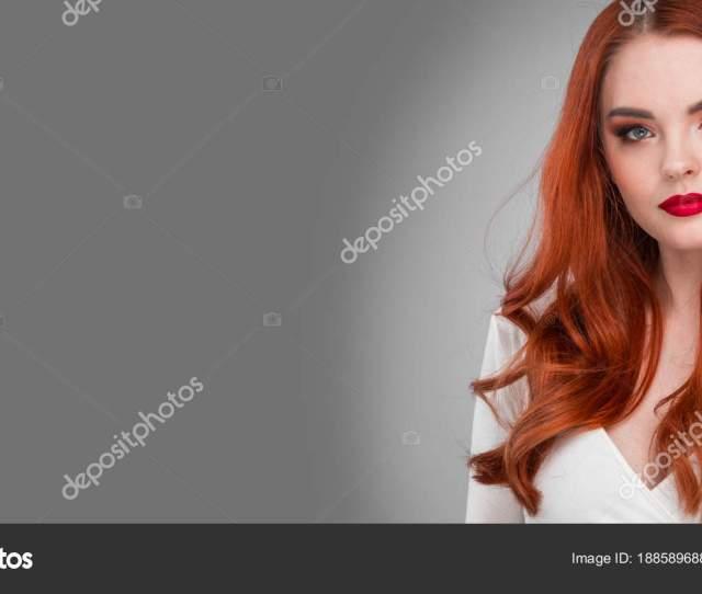 Gorgeous Sensual Attractive Pretty Redhead Sexy Model Girl Shiny Wavy Hair Photo By Yellowj