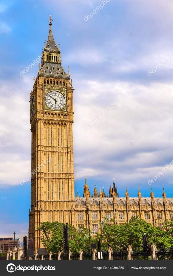 Big Ben Clock Tower In London England Stock Lunamarina #140394360