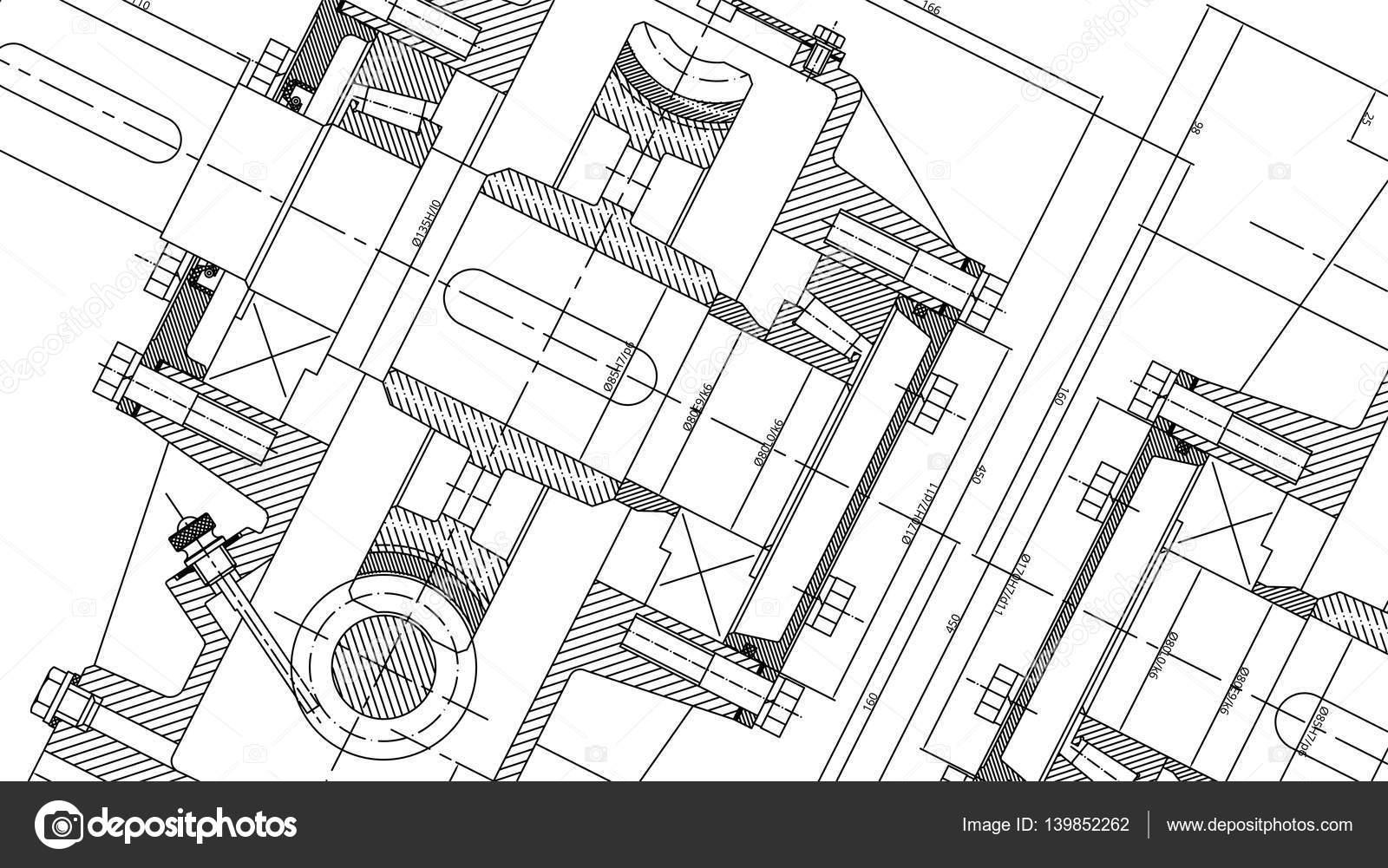 Mechanical Engineering drawing. Engineering Drawing