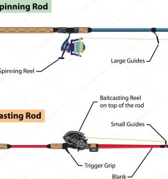 diagram of spinning rod and baitcasting rod vector illustration vector de stock [ 1023 x 979 Pixel ]