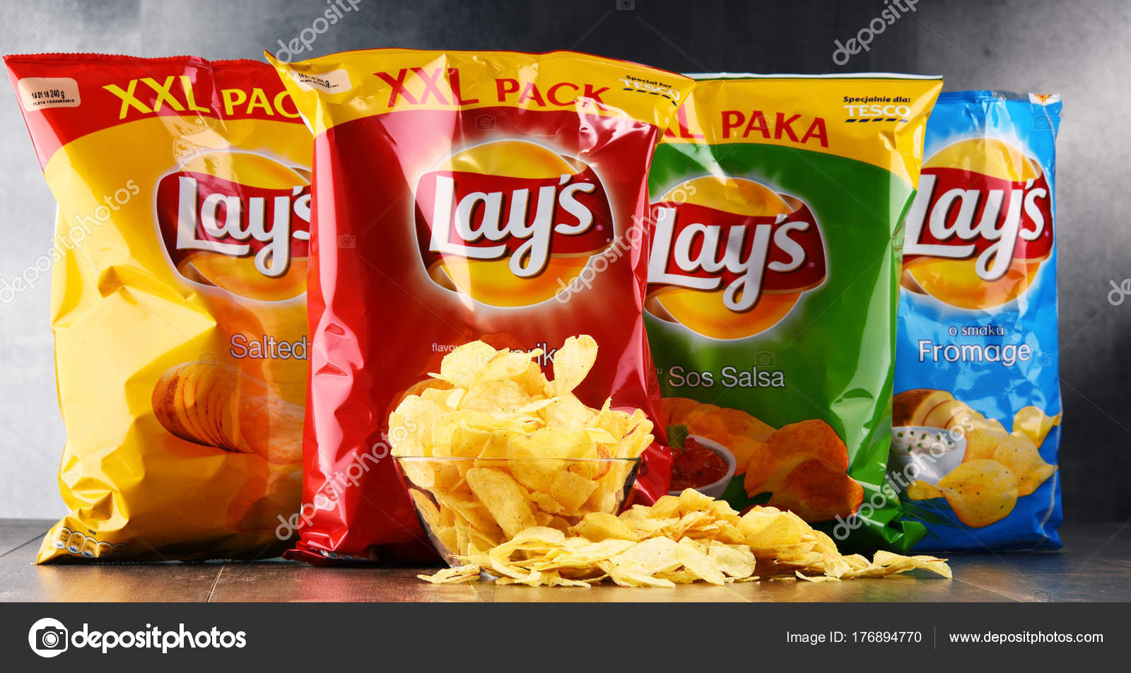 packets of lays potato