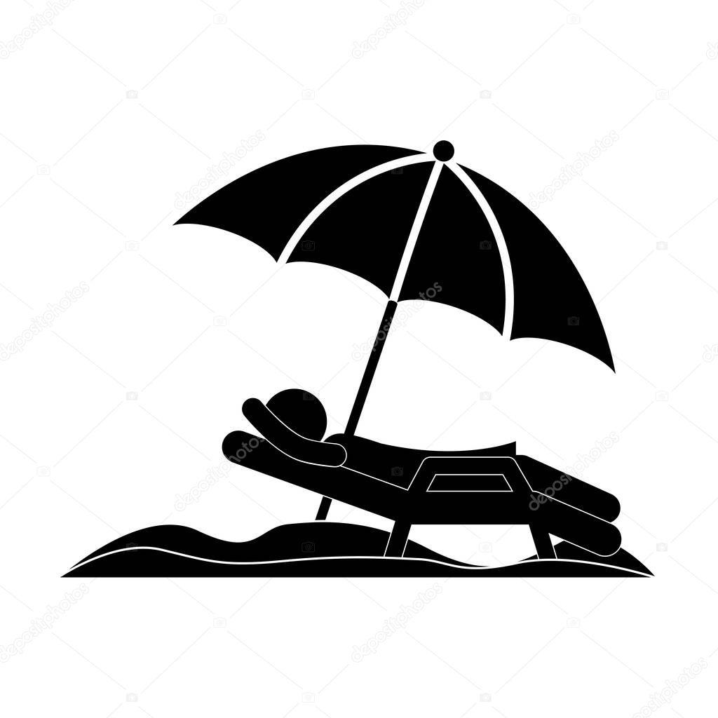 Fotos silueta de silla de playa  persona de silueta de