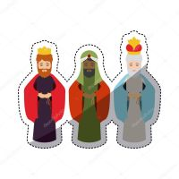 Dibujos Animados De Los Reyes Magos. Dibujo Para Colorear ...