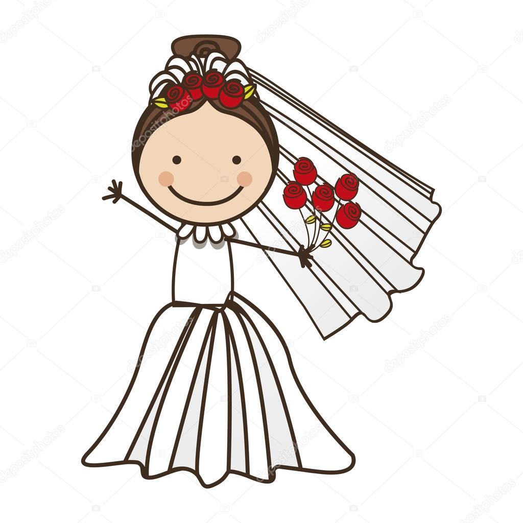 bride cartoon icon image  Stock Vector  grgroupstock