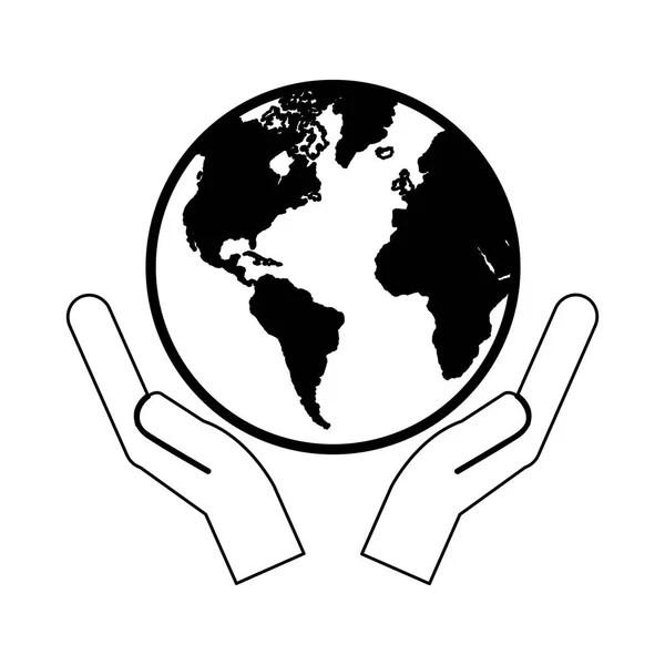 Hand Holding Earth Globe Symbol — Stock Vector © dynamic