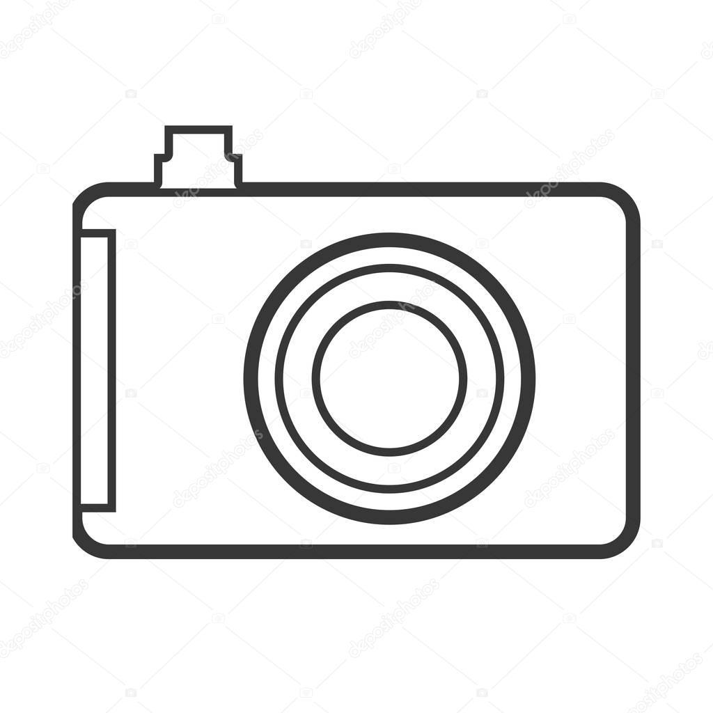 cámara analógica contornos monocromo closeup — Archivo
