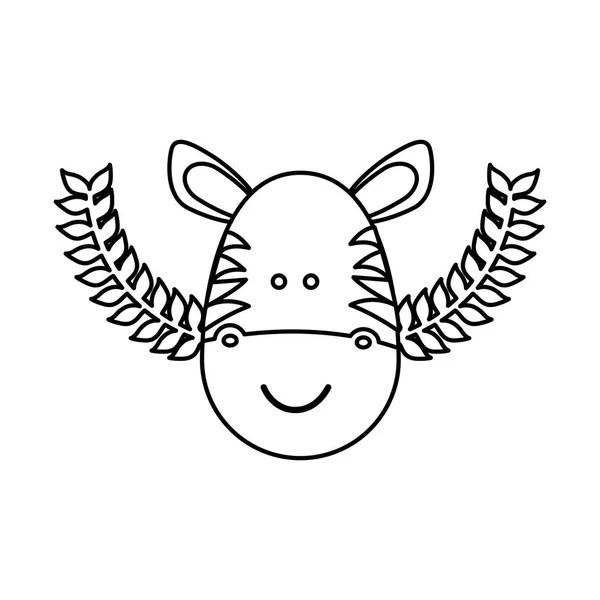 desenho de zebra — Vetor de Stock © idesign2000 #10349966