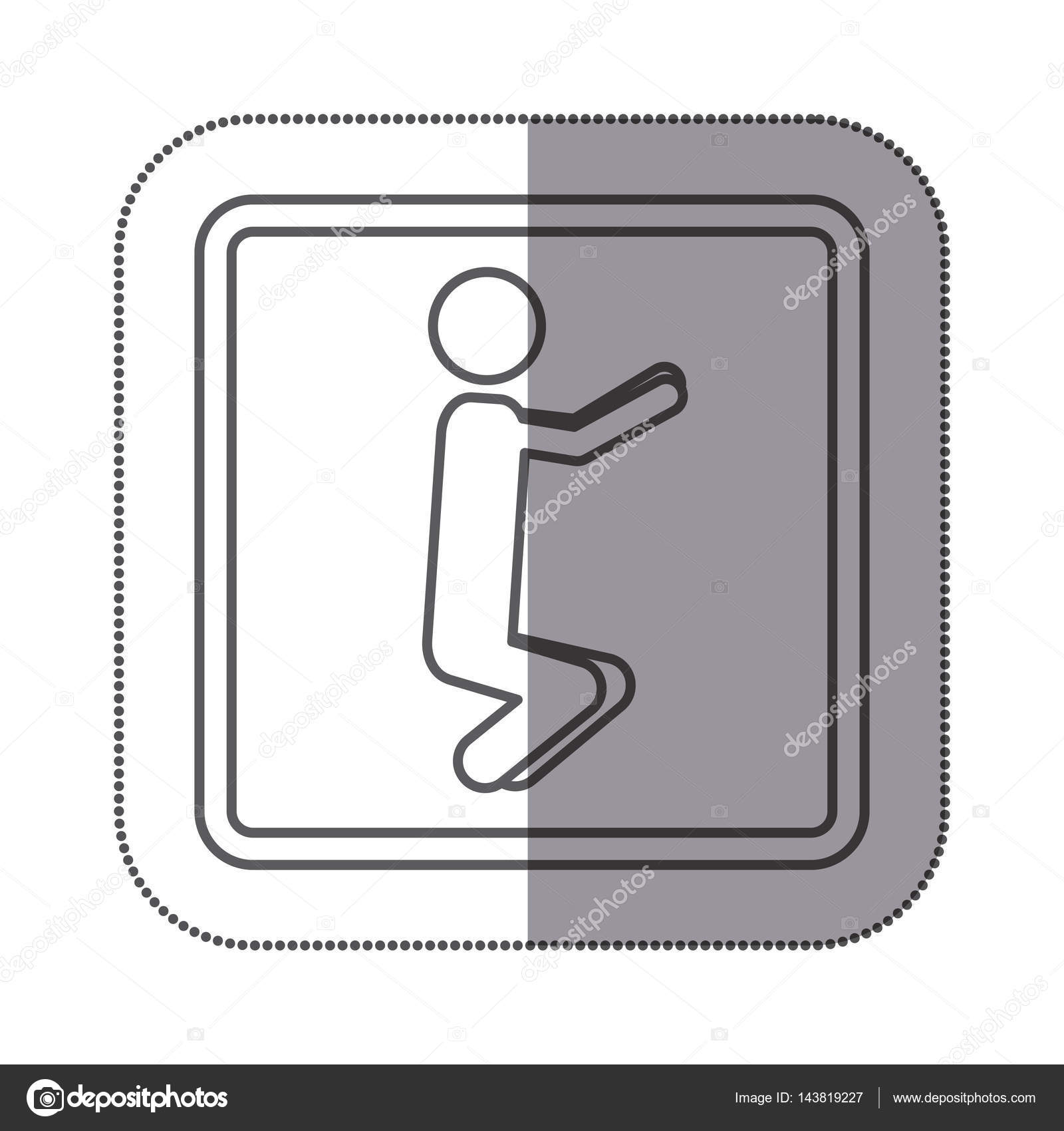 hight resolution of figure person doing squats icon stock vector