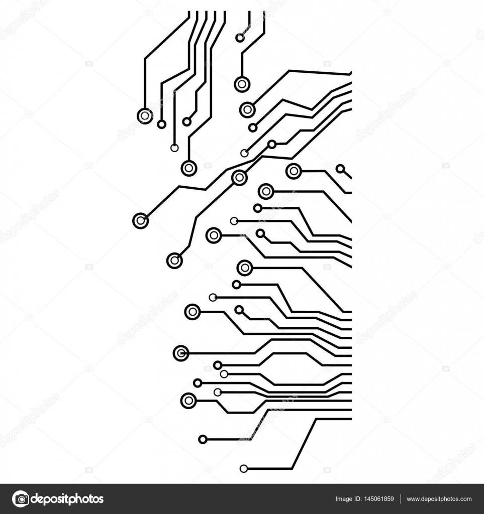 icono de circuitos eléctricos de figura — Archivo Imágenes