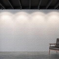 Modern Kitchen Images Laminate Flooring In 最小风格的餐厅3d 渲染图像 有混凝土地板 装饰墙壁与白色木格子和完成与木家具 — 图库照片©onzon#183604230