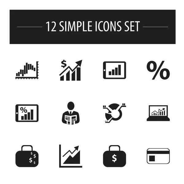 Analytics icon set — Stock Vector © jacartoon #75622347