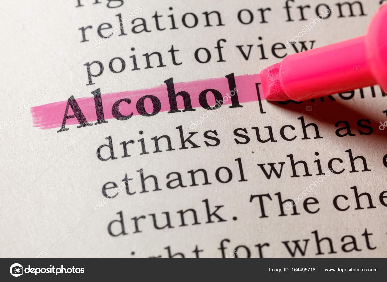 Definition von Alkohol — Stockfoto © Devon #164495718