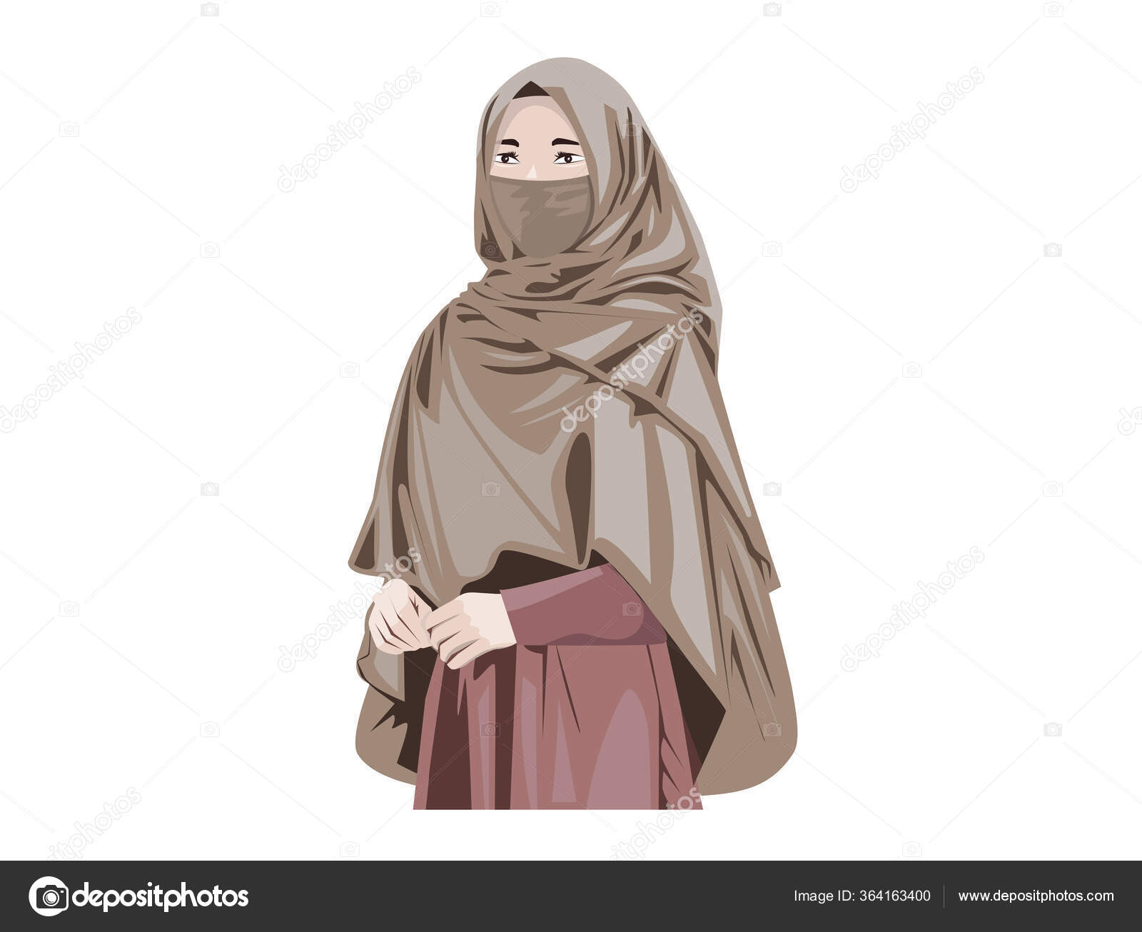 Is incompatible with the discrimination act, the ombudsman confirmed that the islamic dress code is thus protected under the law. Beautiful Muslim Women Niqab Cartoon Islamic Women Niqab Stock Vector Image By C Meenstockphoto Gmail Com 364163400