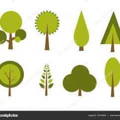 Shrub Graphic Symbols Diagram Sky Box Wiring Conjunto De árboles Vector Ilustración  Stock