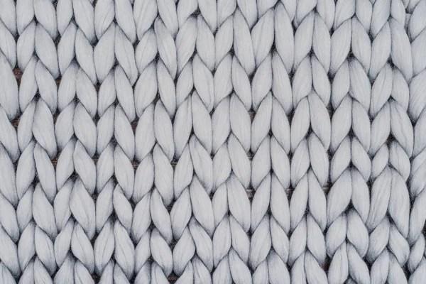 Manta de punto gris de lana merino — Fotos de Stock