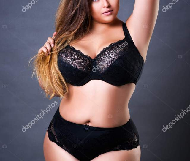 Thick Lingerie Models Plus Size Sexy Model In Black Underwear