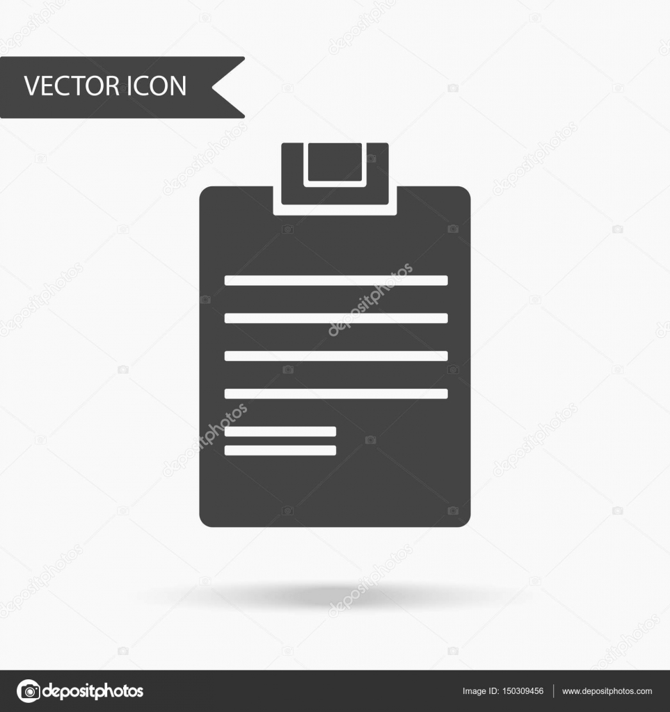 hight resolution of vector business icon writing tablet icon for for annual reports charts presentations