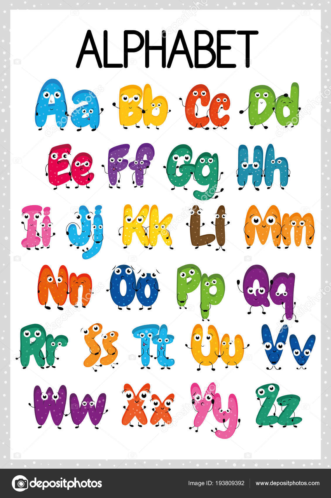 Alphabet Worksheet Exercises Kids Paper Ready Print