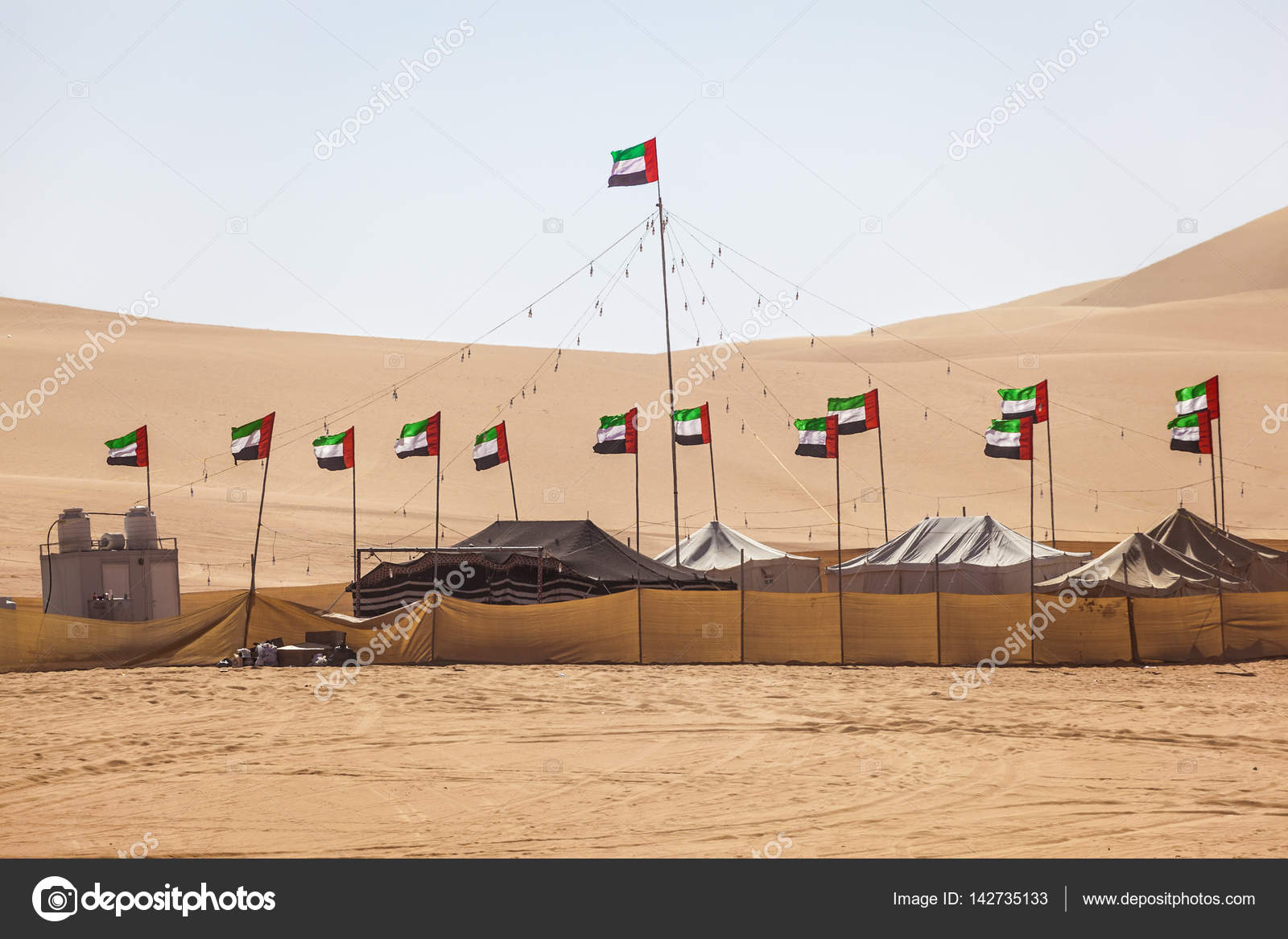 Desert Camp In Liwa Oasis Stock Photo C Philipus 142735133