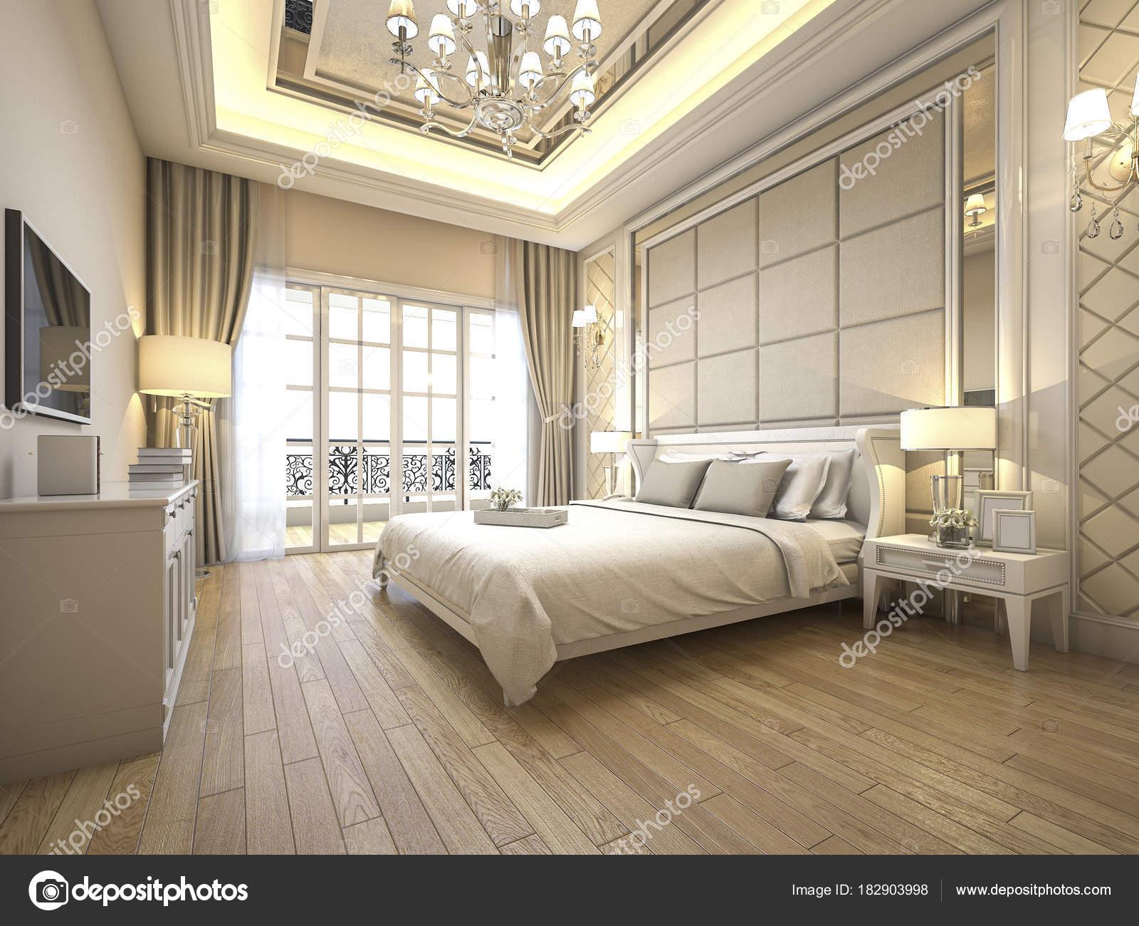Rendu Moderne Classique Chambre Luxe Avec Dcor Marbre  Photographie dit26978  182903998